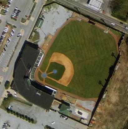 Satellite view of Engel Stadium